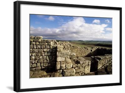 Ruins at the Southern Entrance, Housesteads Roman Fort, Hadrian's Wall--Framed Photographic Print