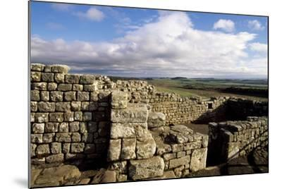 Ruins at the Southern Entrance, Housesteads Roman Fort, Hadrian's Wall--Mounted Photographic Print