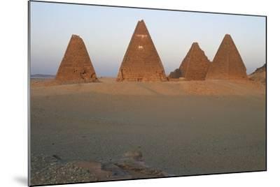 Pyramids of Black Pharaohs, Gebel Barkal and Sites of Napatan Region--Mounted Photographic Print