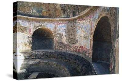 Frigidarium Based on Circular Plan, Forum Baths, Pompeii--Stretched Canvas Print