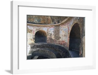 Frigidarium Based on Circular Plan, Forum Baths, Pompeii--Framed Photographic Print