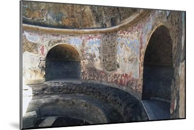 Frigidarium Based on Circular Plan, Forum Baths, Pompeii--Mounted Photographic Print