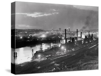Jones and Laughlin Steel Mill, Pittsburgh, Pennsylvania--Stretched Canvas Print