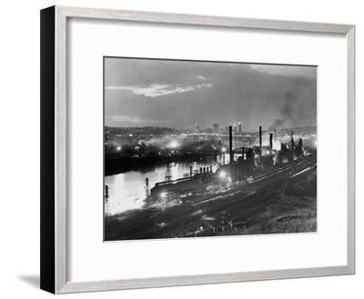 Jones and Laughlin Steel Mill, Pittsburgh, Pennsylvania--Framed Photographic Print