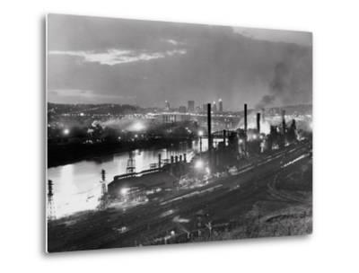 Jones and Laughlin Steel Mill, Pittsburgh, Pennsylvania--Metal Print