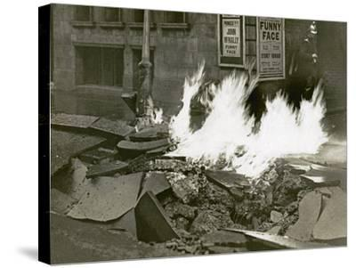 London's Great Gas Explosion, Bloomsbury, 20th December 1928--Stretched Canvas Print