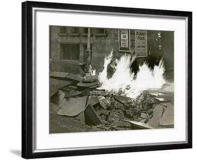 London's Great Gas Explosion, Bloomsbury, 20th December 1928--Framed Photographic Print