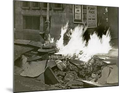 London's Great Gas Explosion, Bloomsbury, 20th December 1928--Mounted Photographic Print