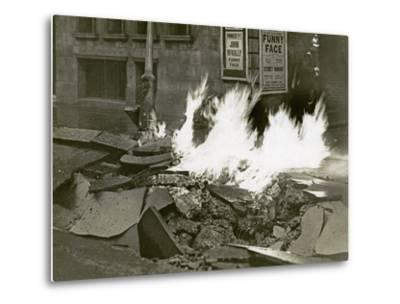London's Great Gas Explosion, Bloomsbury, 20th December 1928--Metal Print