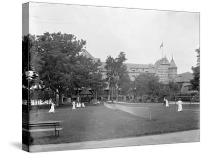 Manhasset, Tennis at Manhanset House, Shelter Island, N.Y., C.1904--Stretched Canvas Print