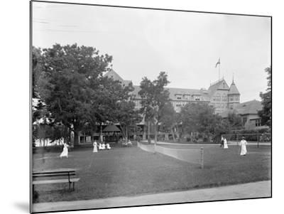 Manhasset, Tennis at Manhanset House, Shelter Island, N.Y., C.1904--Mounted Photographic Print