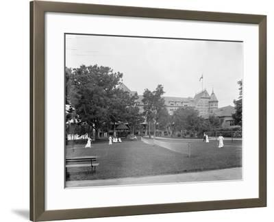 Manhasset, Tennis at Manhanset House, Shelter Island, N.Y., C.1904--Framed Photographic Print