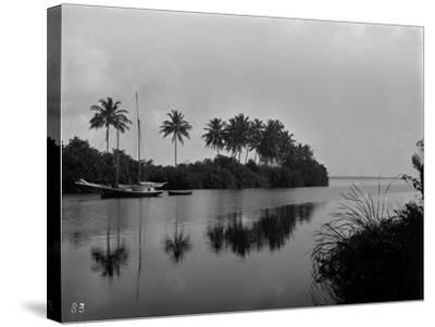 A Pristine View of the Mouth of the Miami River, 1884--Stretched Canvas Print