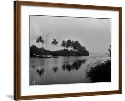 A Pristine View of the Mouth of the Miami River, 1884--Framed Photographic Print