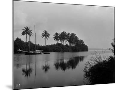 A Pristine View of the Mouth of the Miami River, 1884--Mounted Photographic Print