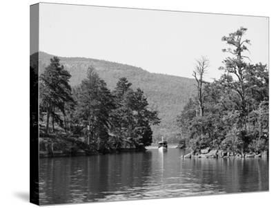 Along the Harbor Islands, Lake George, N.Y., C.1904--Stretched Canvas Print