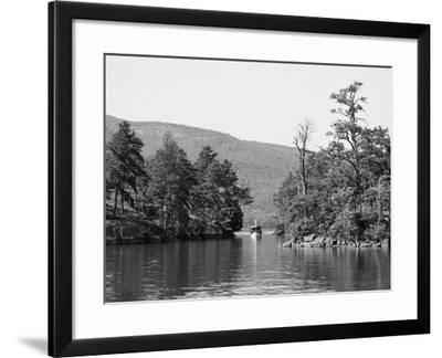 Along the Harbor Islands, Lake George, N.Y., C.1904--Framed Photographic Print