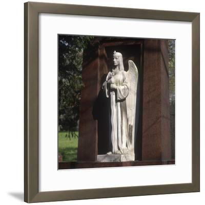 Statue of an Archangel from the Grave of the Graf Family--Framed Photographic Print