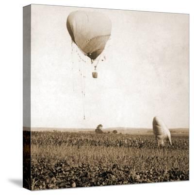 Japanese War Balloons, Port Arthur, Lüshunkou District, China, 1904--Stretched Canvas Print