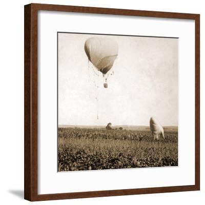 Japanese War Balloons, Port Arthur, Lüshunkou District, China, 1904--Framed Photographic Print