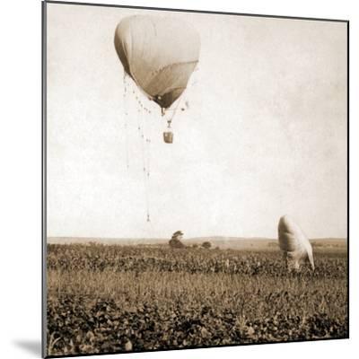 Japanese War Balloons, Port Arthur, Lüshunkou District, China, 1904--Mounted Photographic Print