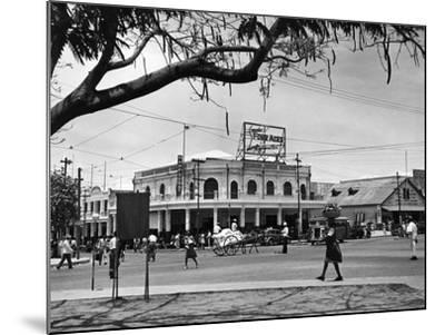 Kingston Commercial District at South Parade, Jamaica, C.1950--Mounted Photographic Print