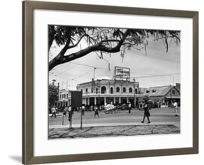 Kingston Commercial District at South Parade, Jamaica, C.1950--Framed Photographic Print