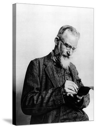 George Bernard Shaw, Illustration from 'The Illustrated London News', 1914--Stretched Canvas Print