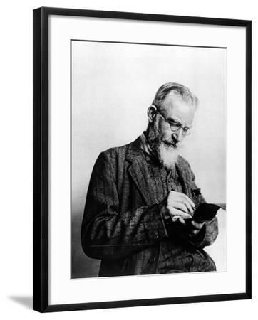 George Bernard Shaw, Illustration from 'The Illustrated London News', 1914--Framed Photographic Print