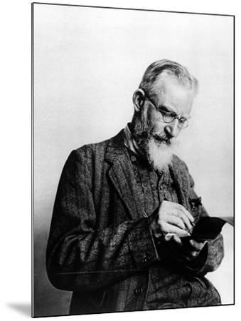 George Bernard Shaw, Illustration from 'The Illustrated London News', 1914--Mounted Photographic Print