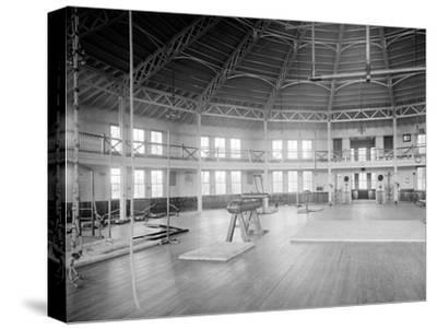 Gymnasium Interior, U.S. Naval Academy, C.1890-1901--Stretched Canvas Print