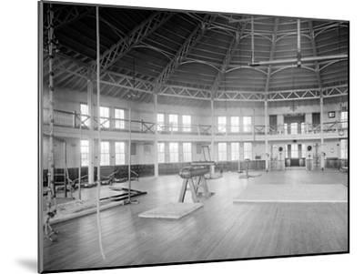 Gymnasium Interior, U.S. Naval Academy, C.1890-1901--Mounted Photographic Print