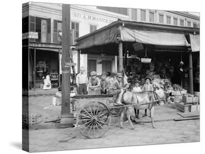 New Orleans, a Corner of the French Market, C.1900-10--Stretched Canvas Print