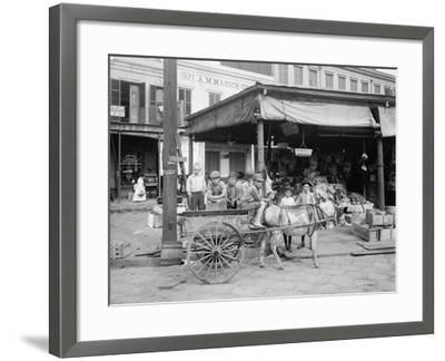 New Orleans, a Corner of the French Market, C.1900-10--Framed Photographic Print