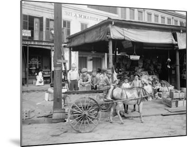 New Orleans, a Corner of the French Market, C.1900-10--Mounted Photographic Print