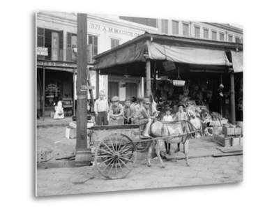 New Orleans, a Corner of the French Market, C.1900-10--Metal Print