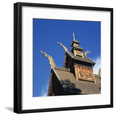 Detail from the Roof of the Gol Stave Church, Built in C.1200--Framed Photographic Print