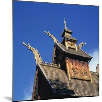 Detail from the Roof of the Gol Stave Church, Built in C.1200--Mounted Photographic Print