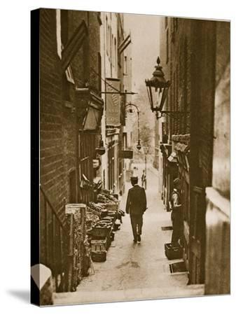George Court, an Alleyway to the Adelphi from the Strand--Stretched Canvas Print