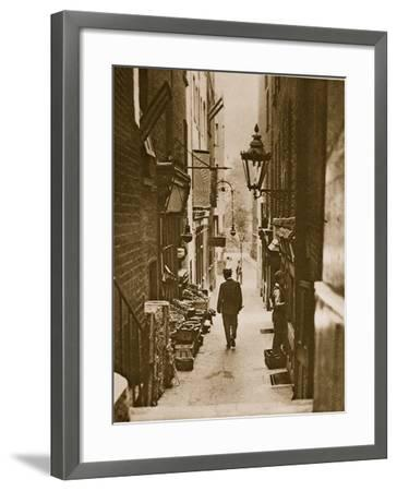 George Court, an Alleyway to the Adelphi from the Strand--Framed Photographic Print