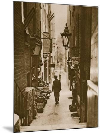 George Court, an Alleyway to the Adelphi from the Strand--Mounted Photographic Print