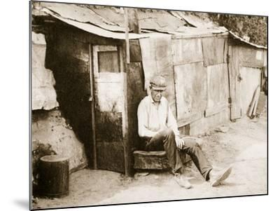 Shack Made of Barrels and Tar Paper, on the River Shore at St. Louis--Mounted Photographic Print