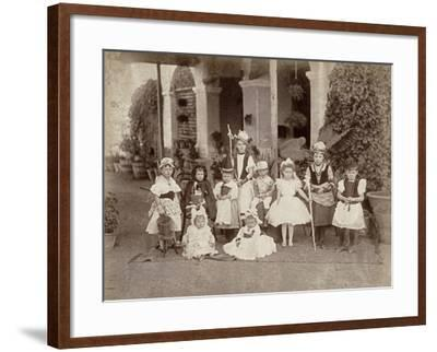 Children's Fancy Dress Party in India, Late 19th Century--Framed Photographic Print
