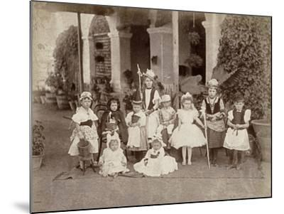 Children's Fancy Dress Party in India, Late 19th Century--Mounted Photographic Print