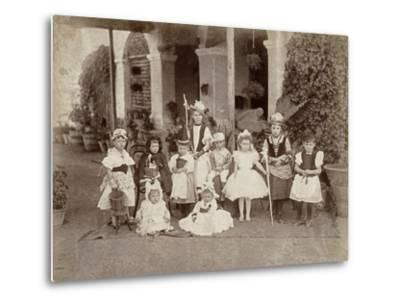 Children's Fancy Dress Party in India, Late 19th Century--Metal Print