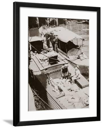A Rum-Running Boat Caught Smuggling in 2,000 Bottles--Framed Photographic Print