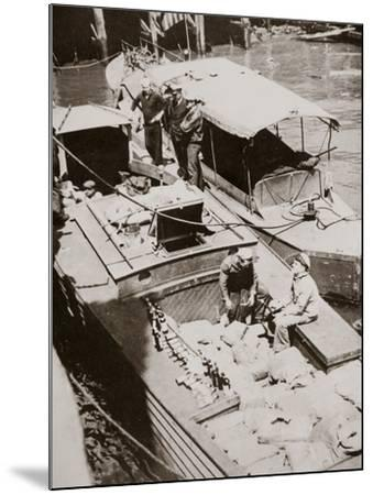 A Rum-Running Boat Caught Smuggling in 2,000 Bottles--Mounted Photographic Print