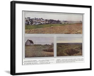 Les Hauteurs De Puisieux, Puisieux, Nos Tranchees De Puisieux-Jules Gervais-Courtellemont-Framed Photographic Print
