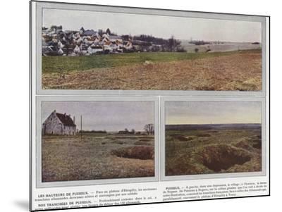 Les Hauteurs De Puisieux, Puisieux, Nos Tranchees De Puisieux-Jules Gervais-Courtellemont-Mounted Photographic Print