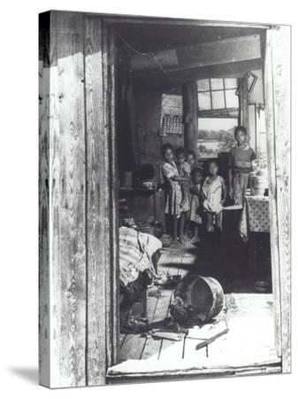 Overcrowded Shack in Caroline County, Virginia, 1941--Stretched Canvas Print